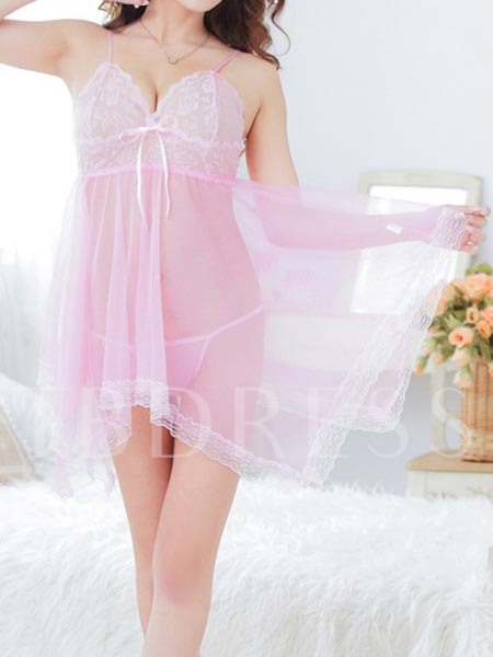 Sexy See-Through Mesh Babydoll Sexy Lingerie