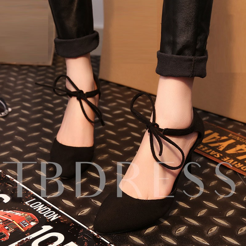 Lace-Up Plain Stiletto Heel Closed Toe Women's Sandals