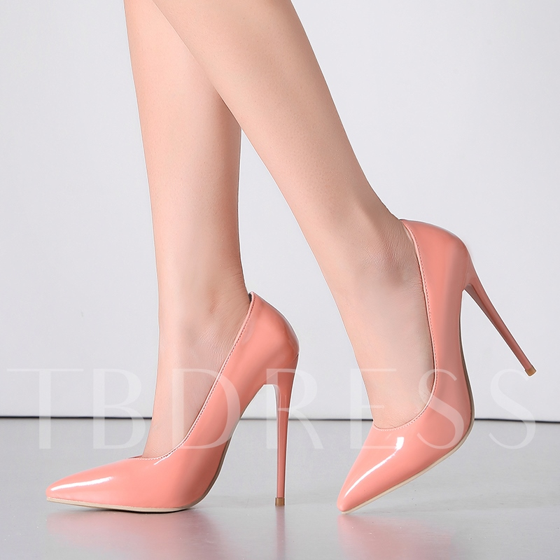 Pointed Toe Slip-On Plain Stiletto Heel Plain PU Women's Pumps