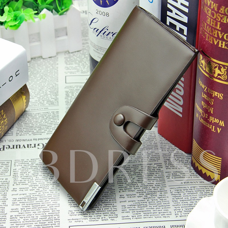 Long Pattern Clasp Multi Card Men's Wallet
