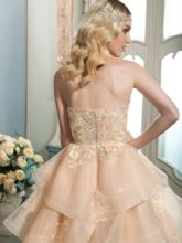Floor-Length Sweetheart Tiered With Appliques Wedding Dress