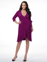 Plus Size V-Neck Mesh Spandex Sleeve Women's Day Dress