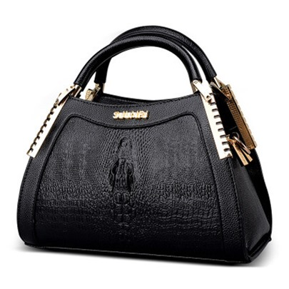 Alligator Shell Women's Tote Bag with Shoulder