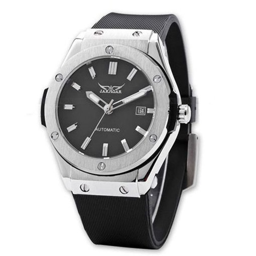 Casual Rubber Band Round Men's Automatic Watch