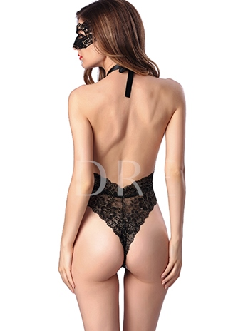 Women's Sexy Sheer Lace Teddies (Eyepatch Included )