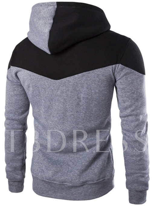 Men's Hoodie with Contrast Color Hat