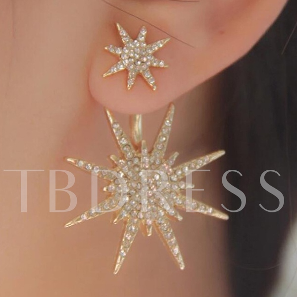 Sparkling Snow Shaped Diamante Earring(for one)