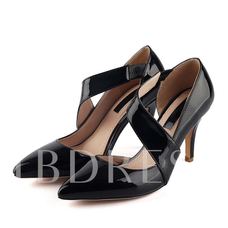 Buy Slip-On Plain Stiletto Heel Pointed Toe Women's Sandals, Spring,Summer,Fall, 12158413 for $46.99 in TBDress store