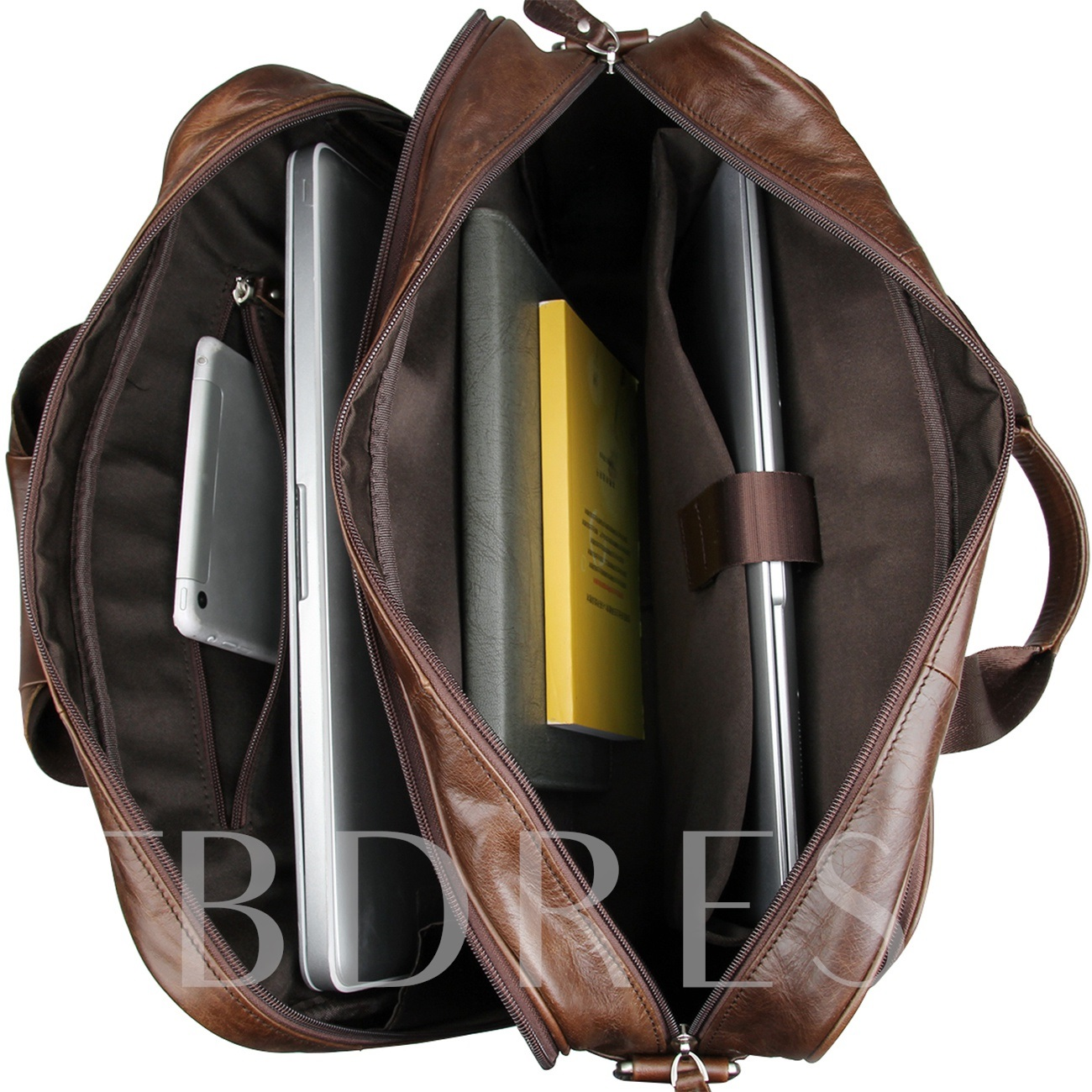 Plain Leather Shoulder Bag Laptop Bags