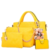 Vintage Pattern Printed with Pendant Women's Bag Set ( Four Bags )