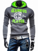 Men's Pullover Hoodie with Solid Color