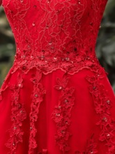 Off-the-Shoulder Appliques Rhinestone Homecoming Dress