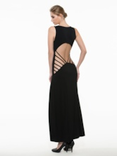 Backless Solid Color Sleeveless Women's Maxi Dress (Plus Size Available)
