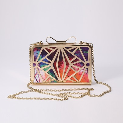 Geometrical Pattern Hollow-out Women's Clutch