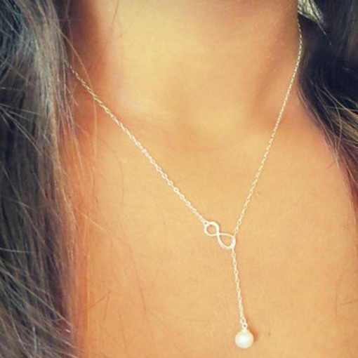 Simple Pearl Pendant Necklace