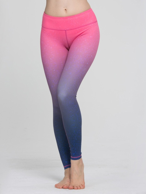 Gradient Color Fast Drying Breathable Women's Yoga Leggings