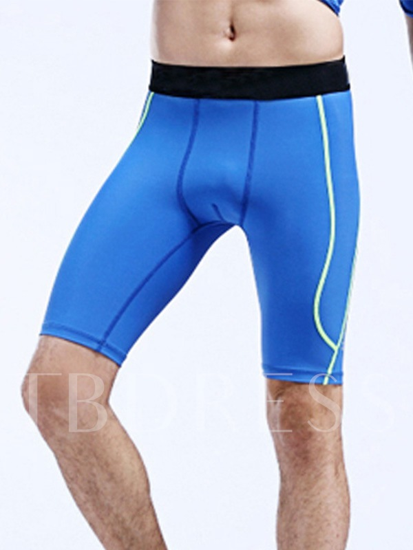 Polyester Solid Color Fitness Fast Drying Men's Sports Shorts