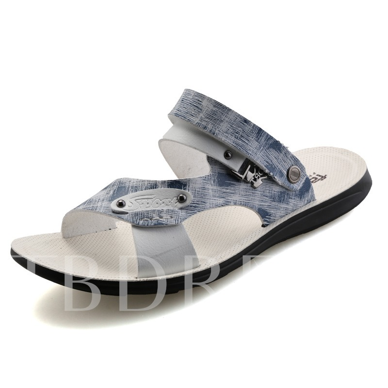 Buckle Flat Heel Open Toe Men's Sandals