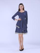 Lace Patchwork Tiered Women's Vintage Dress