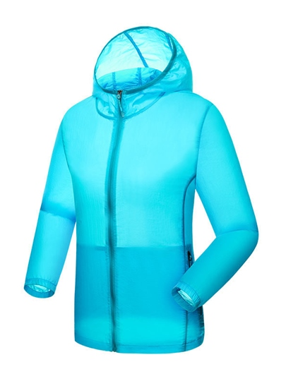 Solid Color Leisure Hoodie Women's Windbreaker (Plus Size Available)