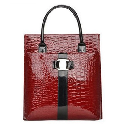 Trends Vertical Croco Embossed Women's Tote Bag