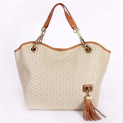 Arrow Pattern Printed with Tassel Women's Tote Bag
