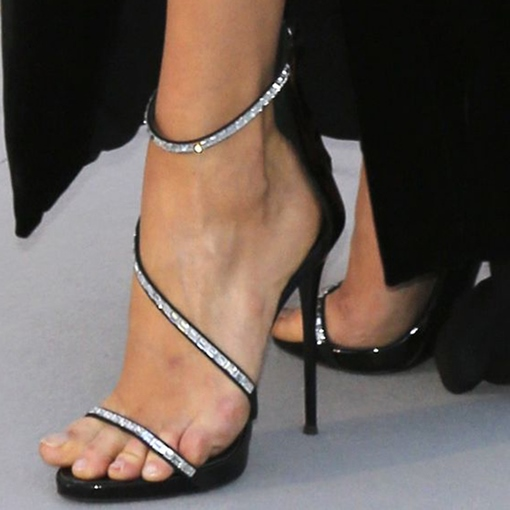 Satin Stiletto Heel Rhinestone Open Toe Women's Sandals