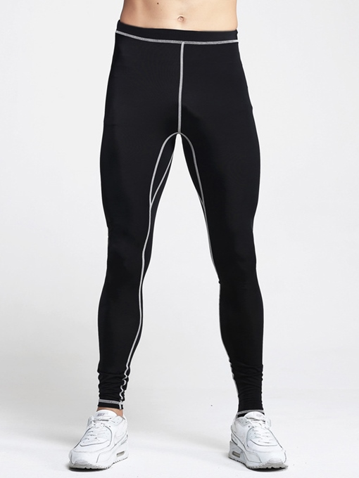 Polyester Form-Fitting Men's Active Pants