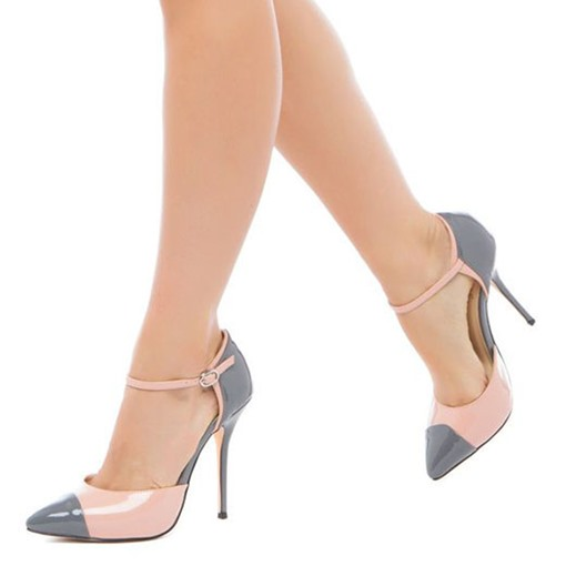 Color Block Stiletto Heel Buckle Pointed Toe Women's Pumps