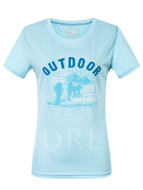 Women's Solid Color Leisure Quicky Dry Short Sleeve T-shirt