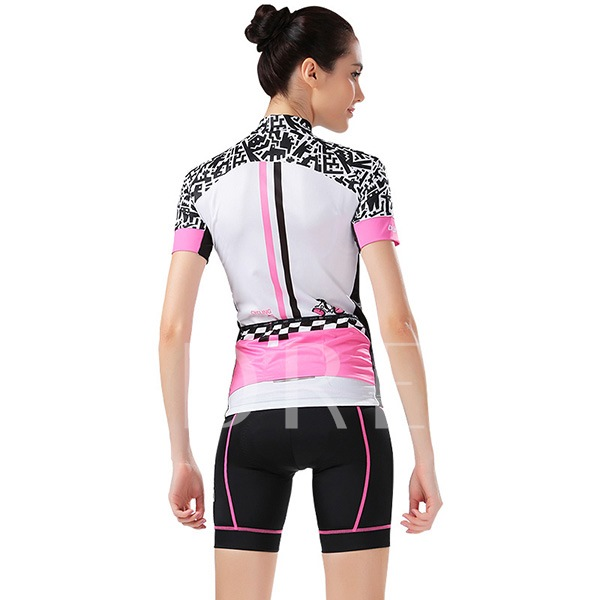 Moisture Wicking Scrawl Print Women's Cycling Suit (Plus Size Available)