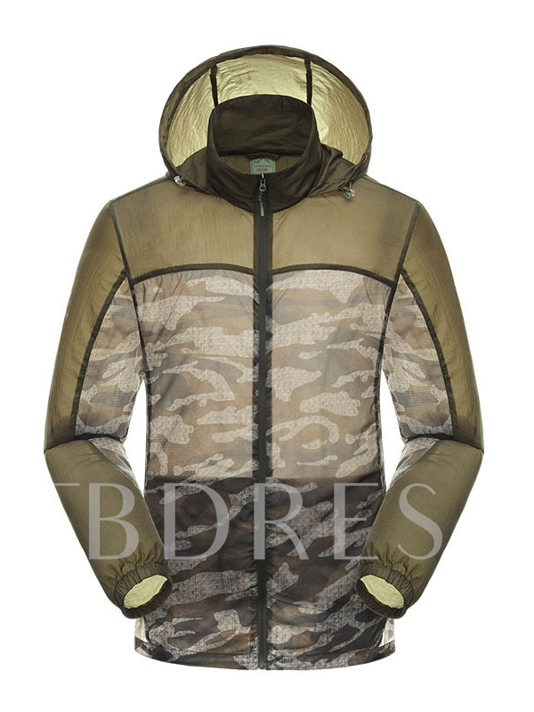 Camouflage Print Lightweight Men's Outdoor Jersey (Plus Size Available)