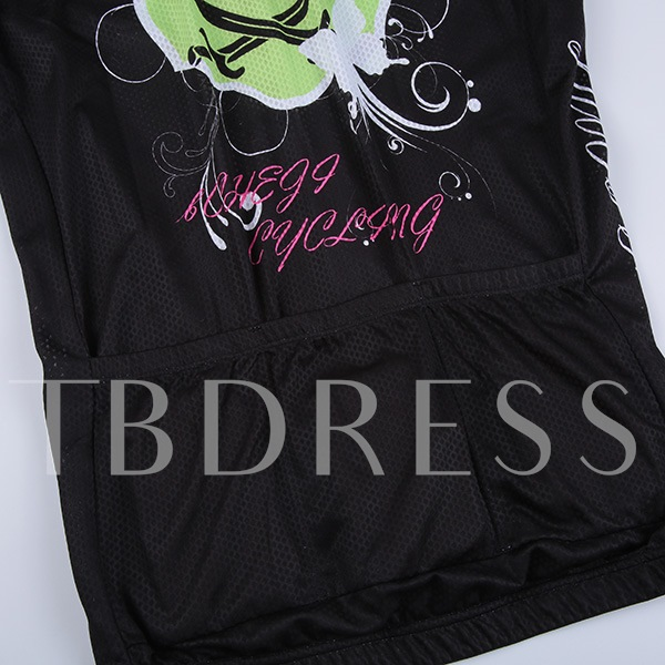 Pirate Printed Moisture Wicking Women's Cycling Suit (Plus Size Available)