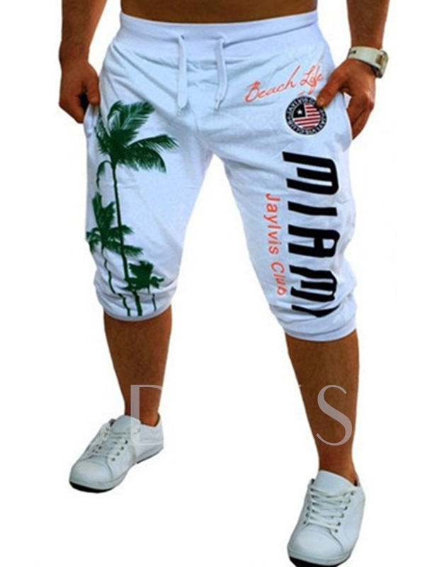 Men's Fashionable Shorts with Letters Printed