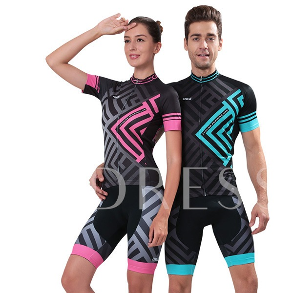 Maze Printed Moisture Wicking Breathable Women's Biking Jersey (Plus Size Available)