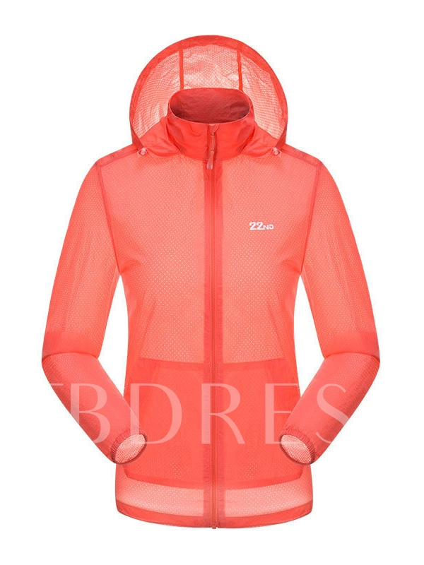 Solid Quick-Drying Breathable Women's Windbreaker (Plus Size Available)