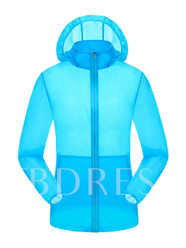 Solid Color Quick-Drying Skin-Friendly Women's Windbreaker (Plus Size Available)