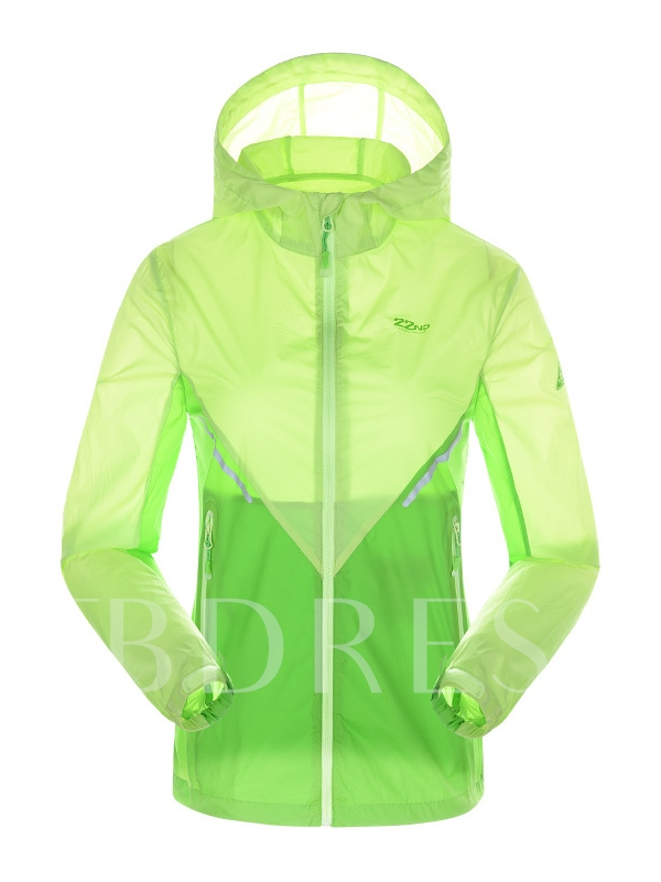 Assorted Color Lightweight Hoodie Women's Windbreaker (Plus Size Available)