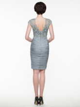 Tiered Sheath Mother Of The Bride Dress with Jacket