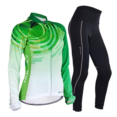 Green Long Sleeve Spring Fall Women's Outfit