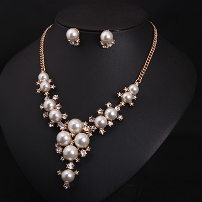 All Matched Pearls Jewelry Set(2 Pieces)