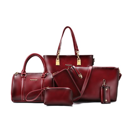Vintage Pure Color Women's Bag Set ( Six Bags )