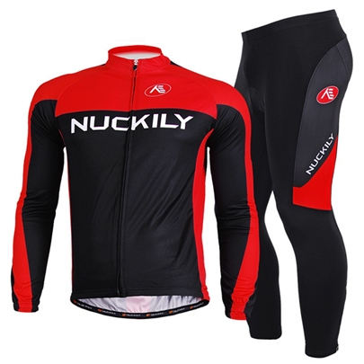 Men's Black-Red Road Cycling Jersey Suits