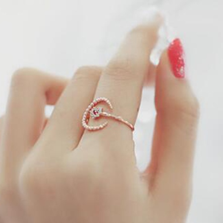 Bright Moon Opening Ring