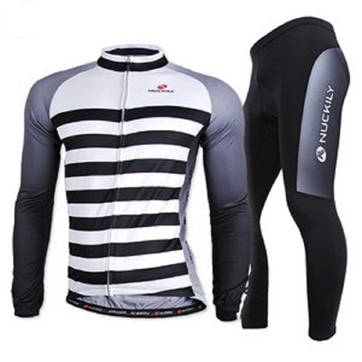 Stripe Wicking Men's Cycling Jersey Suit