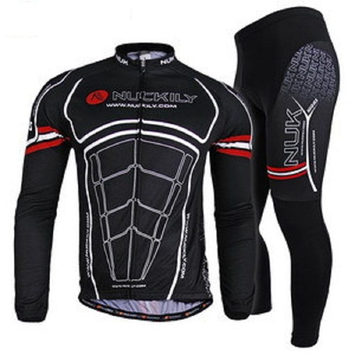 Men's Road Black Cycling Jersey Suits