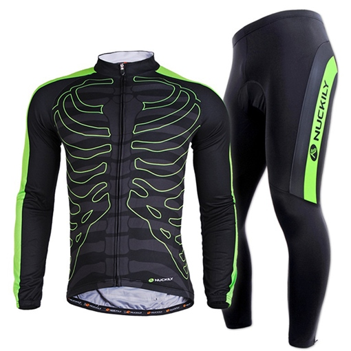 Polyester Moisture Bone-Print Men's Cycling Suits