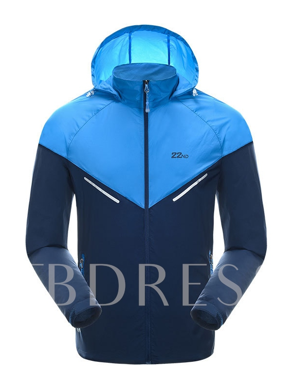 Breathable Lightweight Hoodie Men's Windbreaker (Plus Size Available)