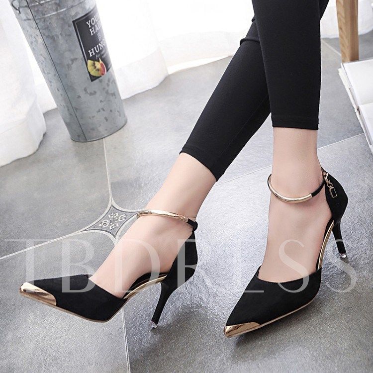 Buy Cheap Pointed Sequins Ankle Strap Women's Formal Sandals, Spring,Summer,Fall, 12202065 for $21.99 in TBDress store