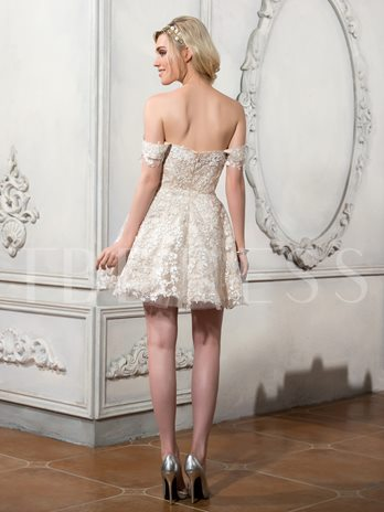 Appliques Beaded Removable Skirt Beach Wedding Dress